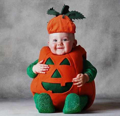 disfraz de calabaza casero para beb Disfraces de halloween para