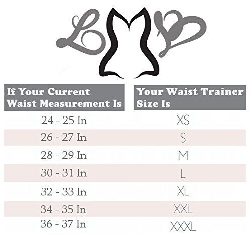 e4768197597 LMB Waist Trainer Corset - Workout Style 1024 - Latex Waist Cincher at Amazon  Women s Clothing store