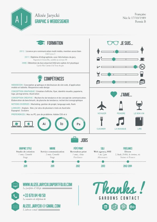 Resume On Behance Infographic Resume Resume Design Visual Resume
