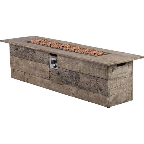 Steel Wood Burning Fire Pit | Gas fire table, Rectangular ...
