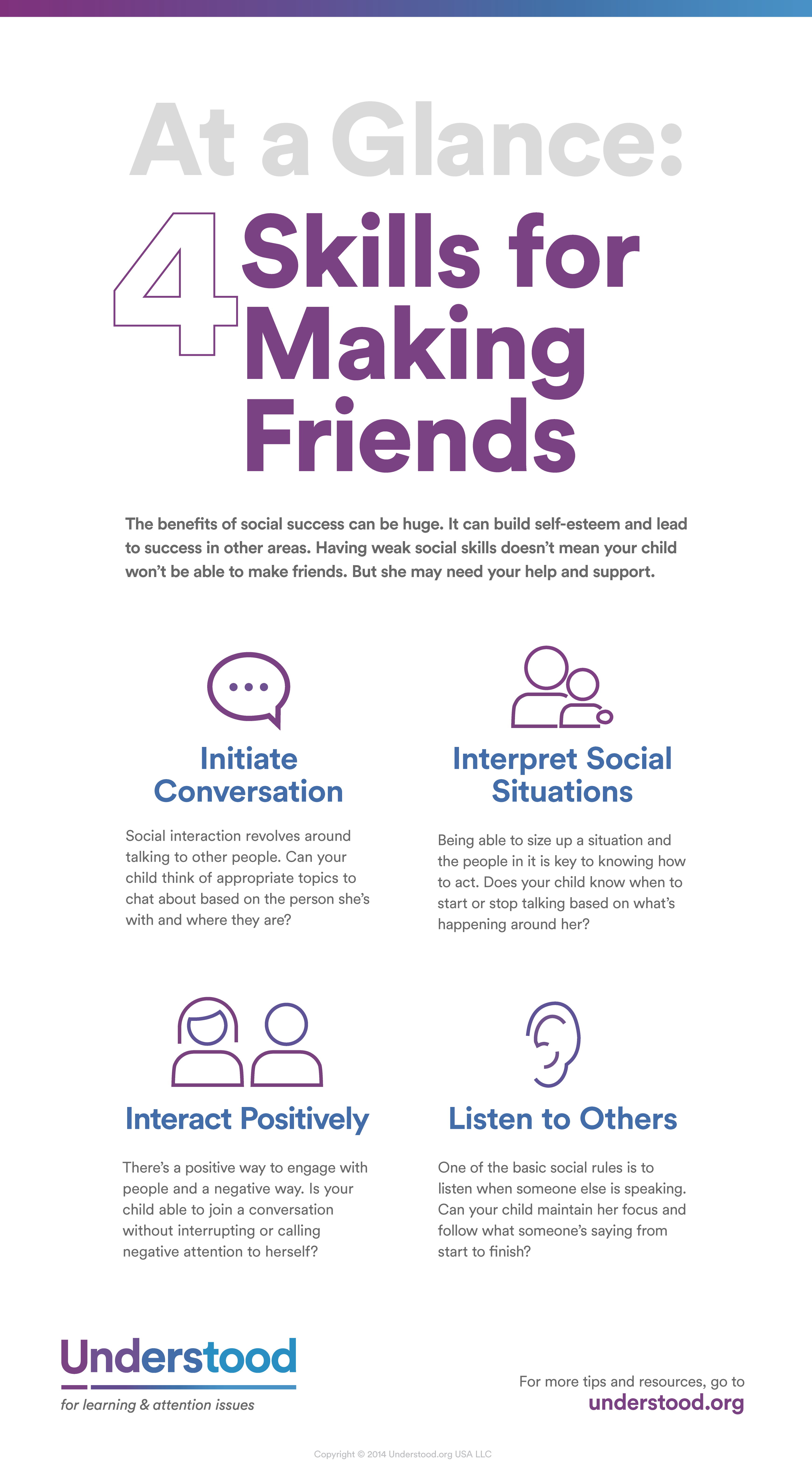 At A Glance 4 Skills For Making Friends