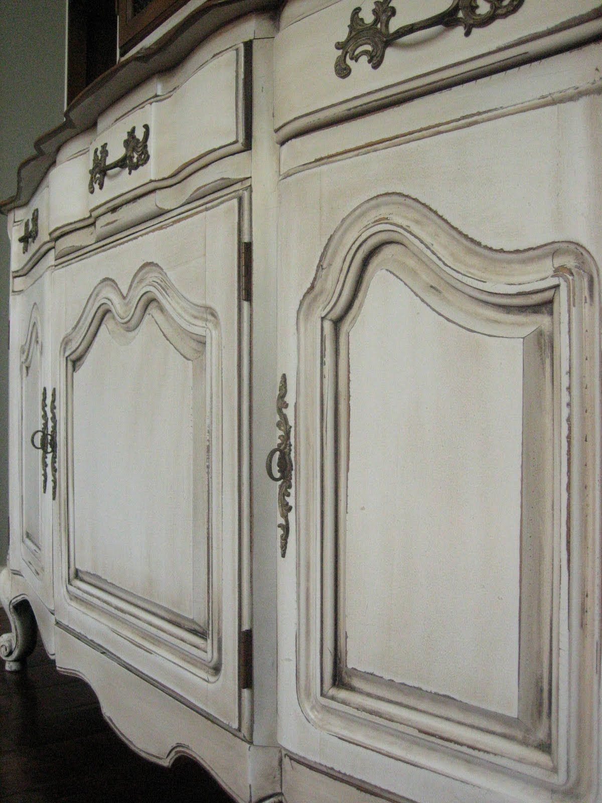 European Paint Finishes Euro Country Cottage Shabby Chic Chandler Phoenix  East Valley Furniture Refinishing China Cabinet