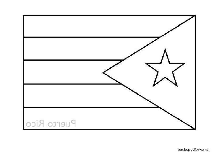 Coolest Puerto Rico Flag Coloring Page