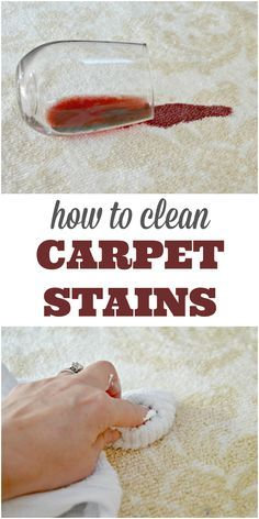 How To Clean Carpet Stains Quickly using one household ingredient - this cleaning hack is a lifesaver! and even cleans red wine stains! via @Mom4Real