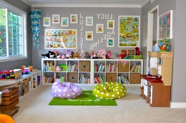 71 Smart Basement Playroom Design Ideas For Kids Toy Rooms Girls Playroom Playroom Design