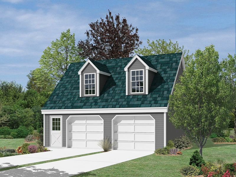 The Tiara 2 Car Garage With Loft Plan See Details For