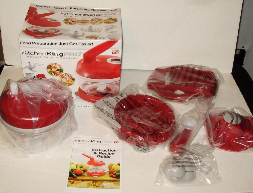 Kitchen King PRO Manual Food Processor NEW In BOX Never Used Complete