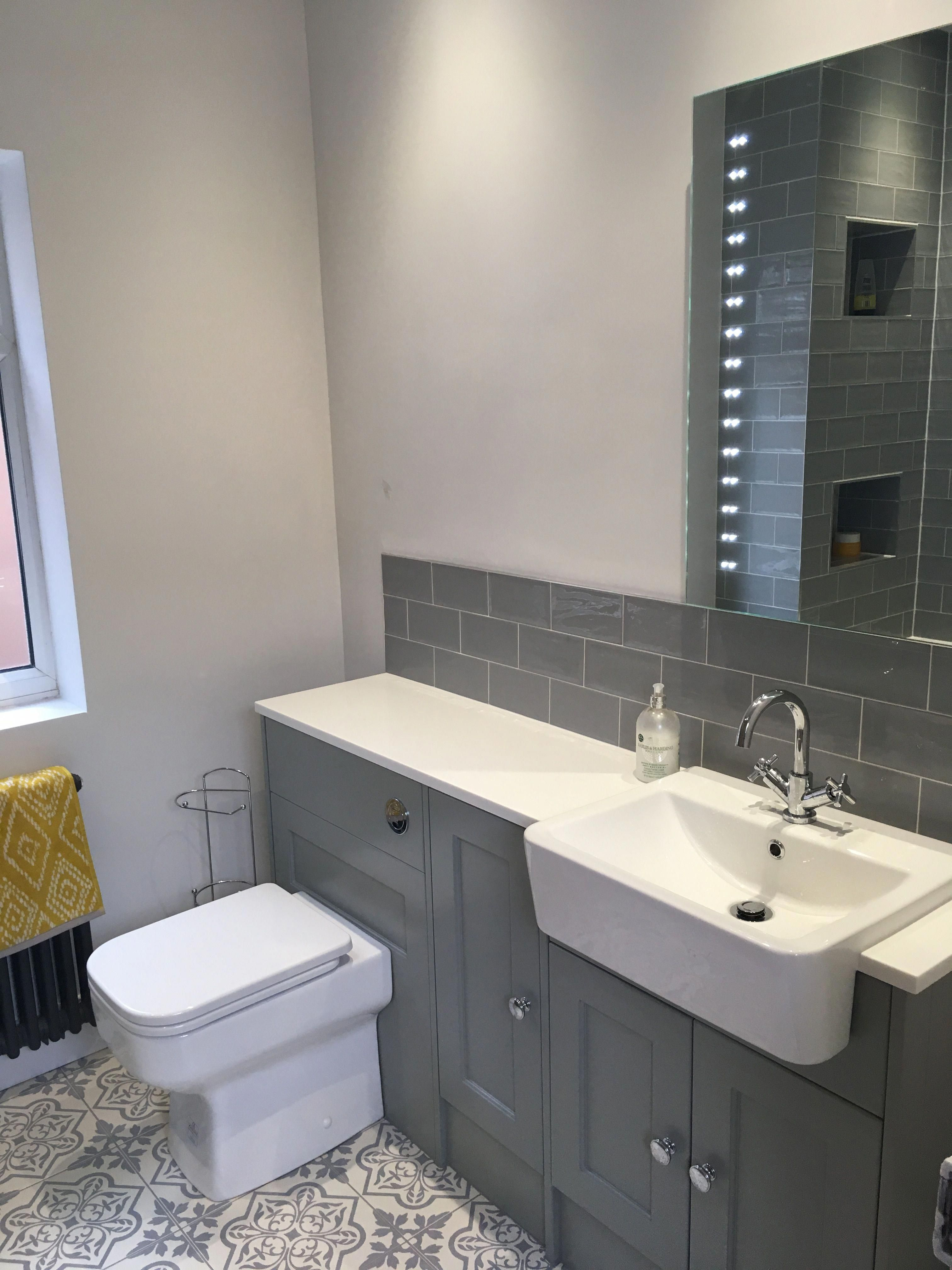 The Finished Article Roper Rhodes Burford Furniture In Pebble Grey With Geo Basin And Toilet Original Grey Bathroom Furniture Fitted Bathroom Bathroom Design