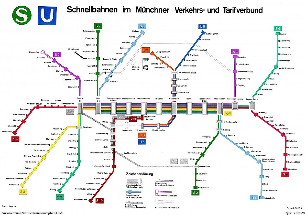 Munich metro map Rapid Transit M Pinterest Munich and Rapid