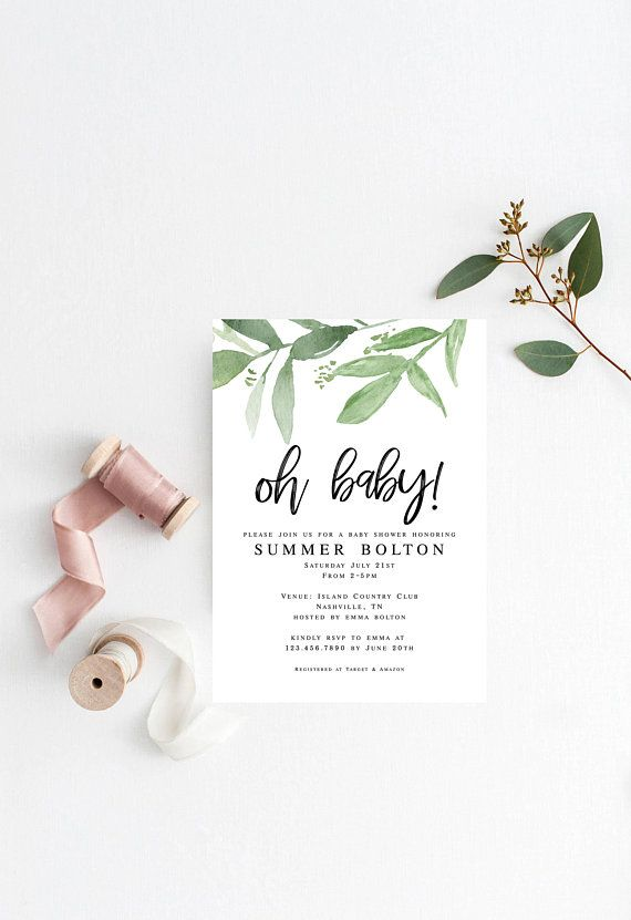 This is an Instant Download Baby Shower Invitation - can ...