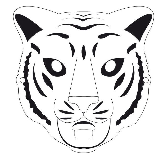 60+ Tiger Shape Templates, Crafts \ Colouring Pages Free - face masks templates