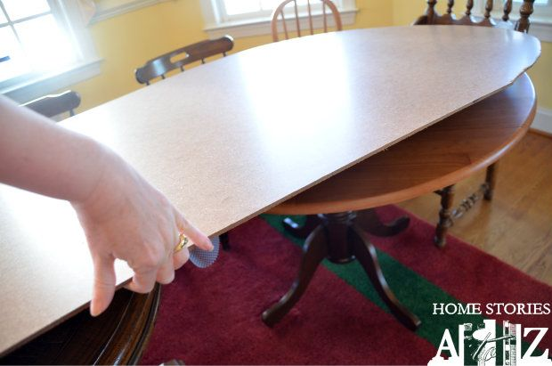 Ingenious Tip For Expanding Your Dining Table For Parties Or The Holidays.  Click For Full Explanation On How To Do It.