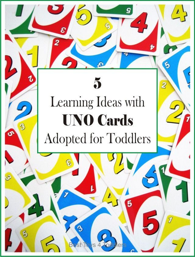 5 Learning Ideas with UNO Cards Adapted for Toddlers | Number, Maths ...