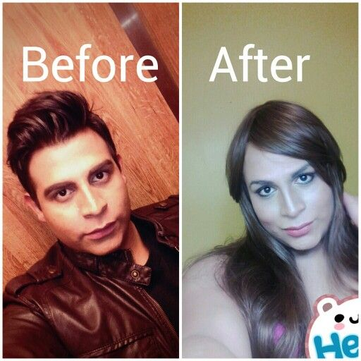 Male to female trans before and after-7411