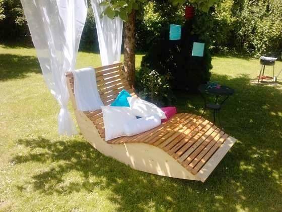 diy how to build a garden sunbed for two tolle sonnenliege f r den garten garden. Black Bedroom Furniture Sets. Home Design Ideas