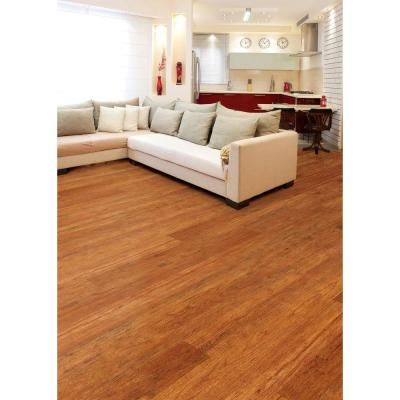 Hampton Bay High Gloss Pacific Cherry 8 Mm Thick X 5 In Wide X 47 3 4 In Length Laminate Flooring 13 26 Sq Ft Case
