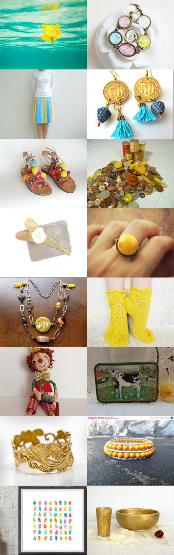A touch of yellow by sylvie on Etsy--Pinned with TreasuryPin.com
