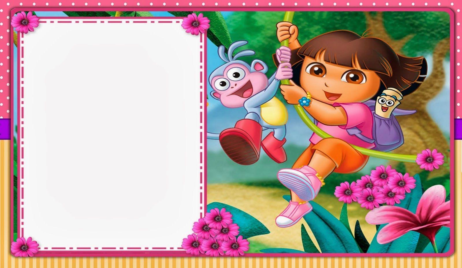 doratheexplorerfreeprintablekit008jpg 1600 930 – Dora Party Invites