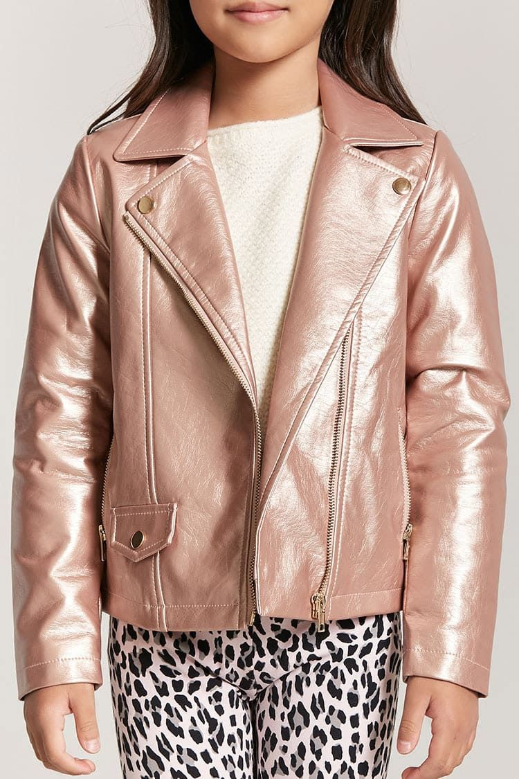 4344dcc6a Product Name:Girls Metallic Moto Jacket, Category:GIRLS_Outerwear ...