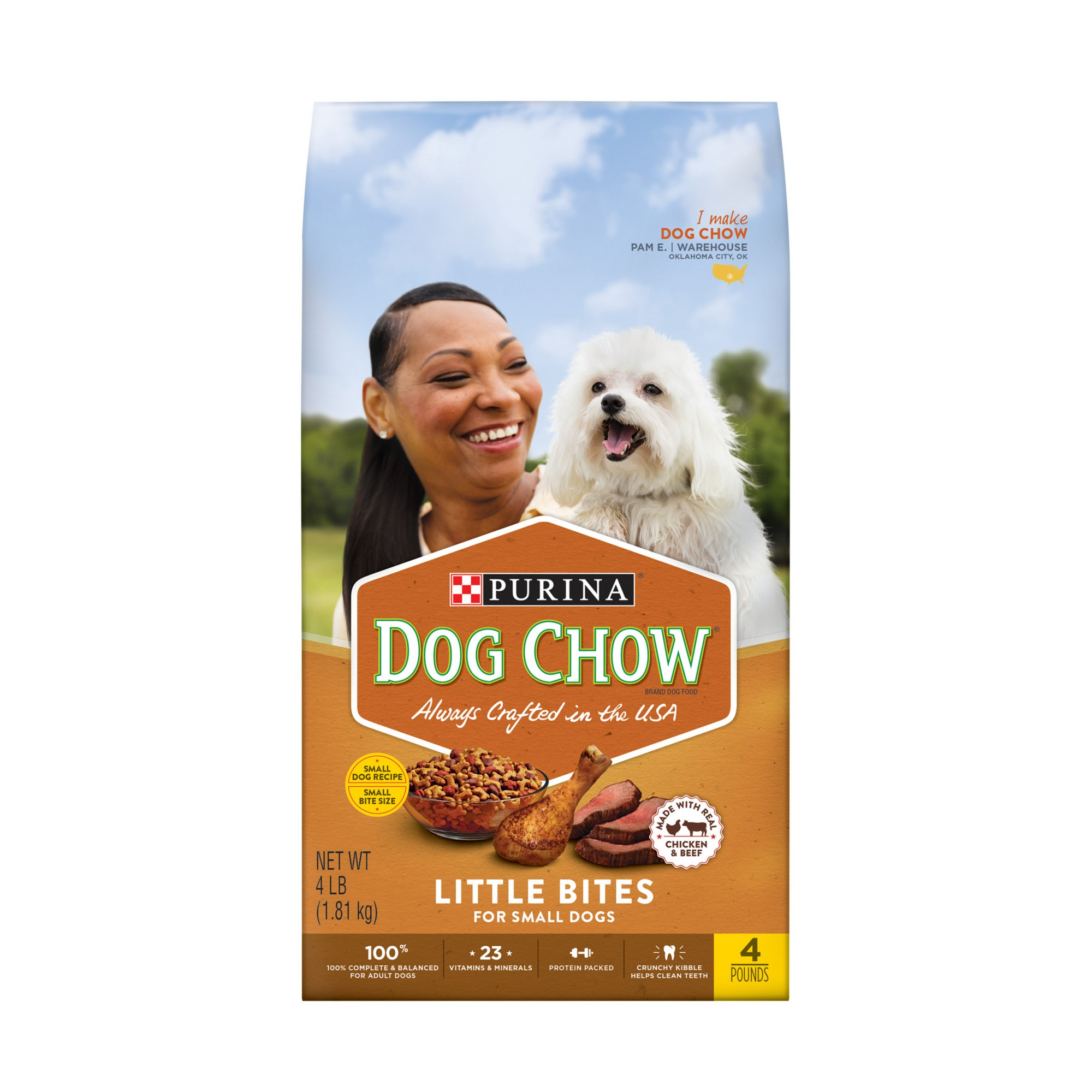 Purina Dog Chow Small Dog Grain Real Meat Dry Dog Food 4lbs