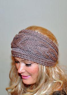 Earwarmer Cabled Ear Warmer Winter Crochet Headband Chunky Ear