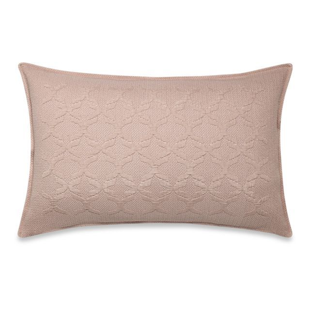Frette At Home Marano Coverlet Standard Pillow Sham in Blush