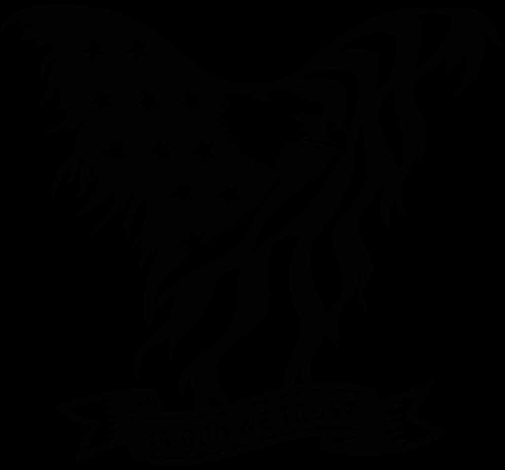 Usa Flag Eagle In God We Trust Sign Plasma Laser Dxf