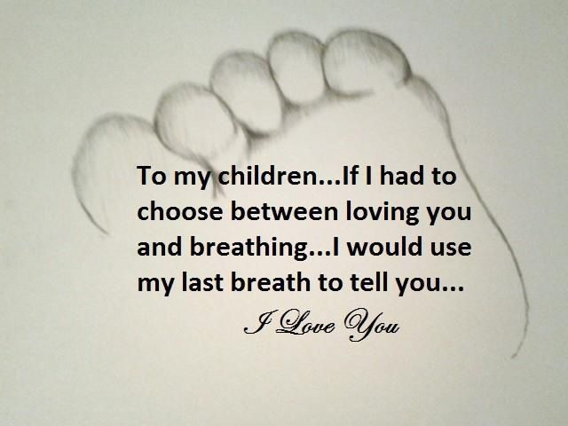 Beautiful Quote For My Children I Love All Three Of You With All