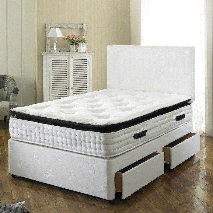 Paul Divan Bed with 2000 Pocket Spring Memory Foam Mattress - Luxury ...