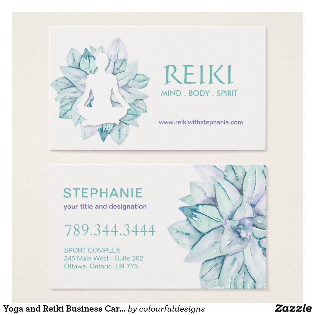 Yoga And Reiki Business Cards Zazzle Com Reiki Business Florist Business Card Reiki Business Ideas