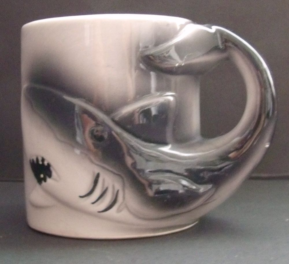 Shark 3D Coffee Tea cup mug