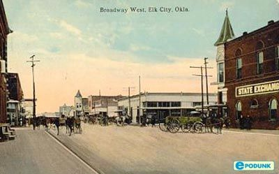 Elk City Postcard Post Card Broadway West Elk City Ok Elk City City Postcard City Information