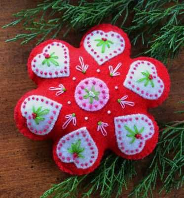 Wool Ornaments & Pattern A Month For 8 Months Join Now!