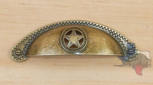 Western Star Pull Cabinet Hardware Knobs Cup Bin Pull CP552AB