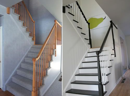 This Is A Great Way To Update Those Light Oak Stair Rails
