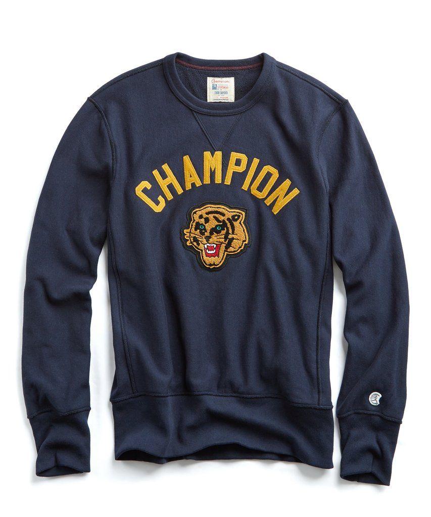 d0e61fe023 Champion Graphic Tiger Sweatshirt in Navy