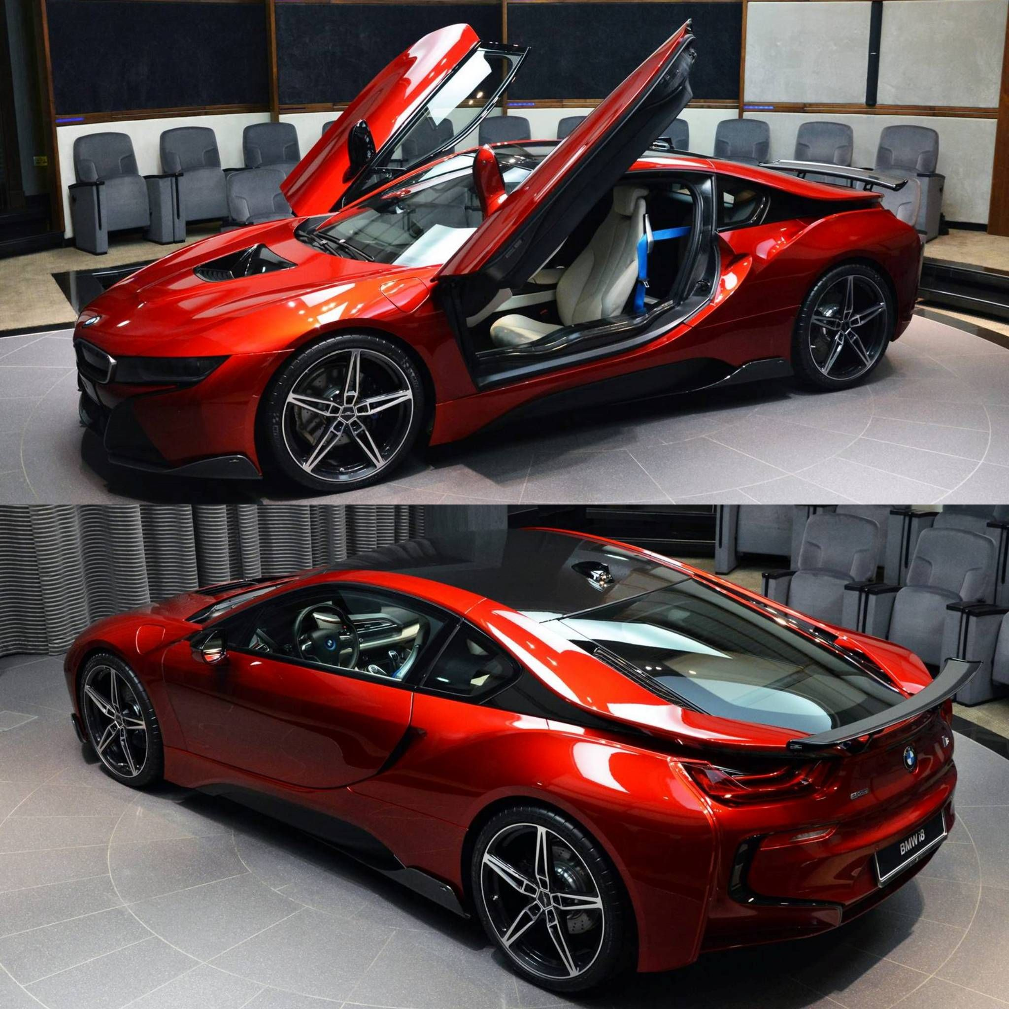 bmw i8 coupe edrive red devil fire rainbow