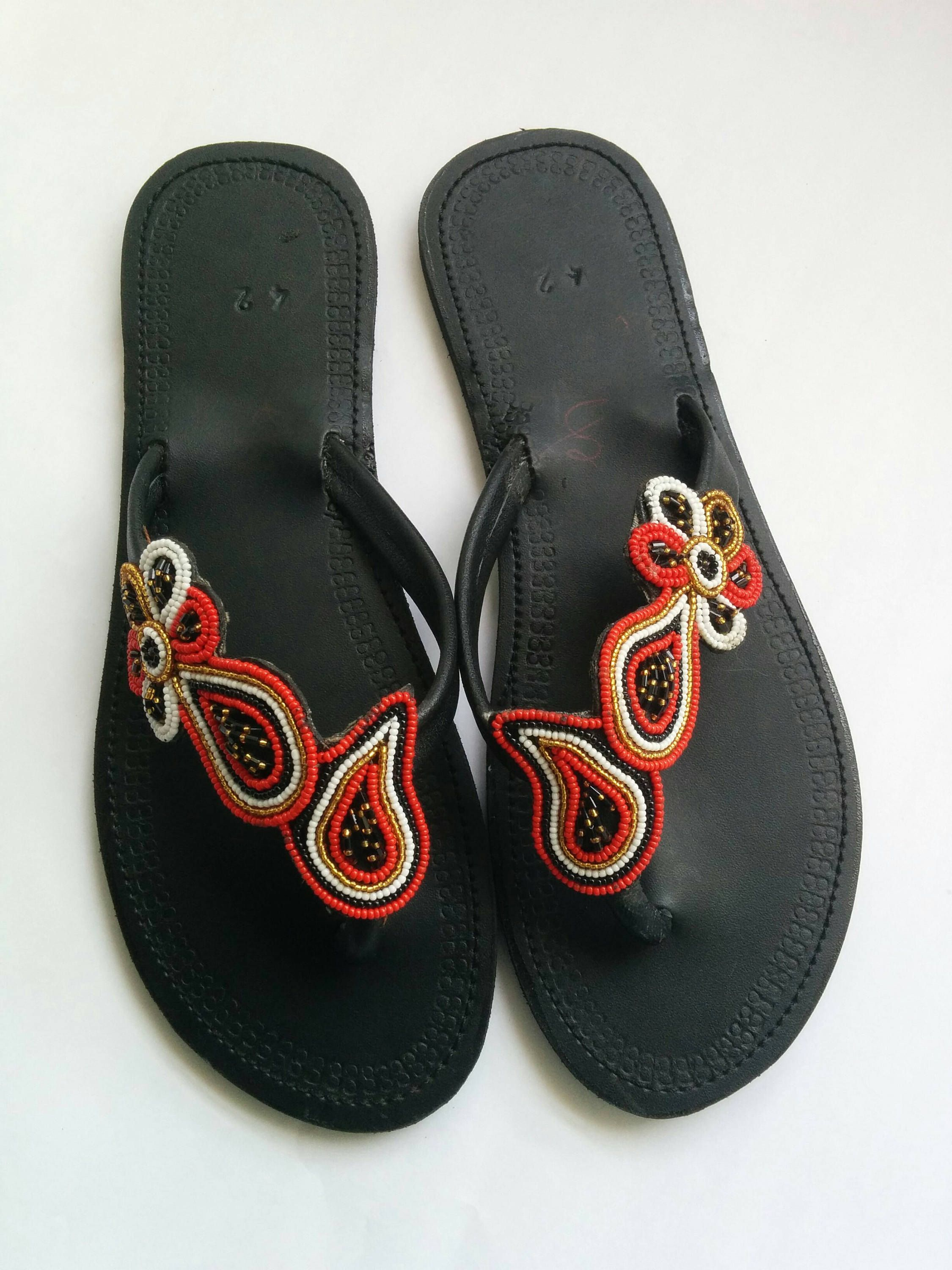 54e5631c30511 Zarifa sandals African sandals Sandals Maasai leather sandals Leather  Sandals African shoes Kenyan sandals Women sandals Women shoes by Africozz  on Etsy