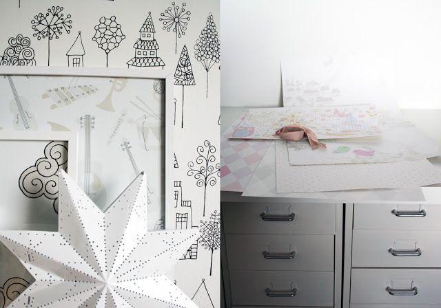 Papiers peints Kaspar noir et blanc de Sandberg. | Papier peint ...
