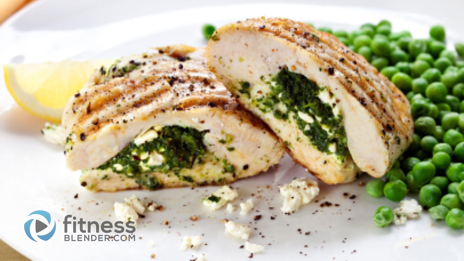 Spinach And Ricotta Stuffed Chicken Healthy Stuffed Chicken Recipe Fitness Blender