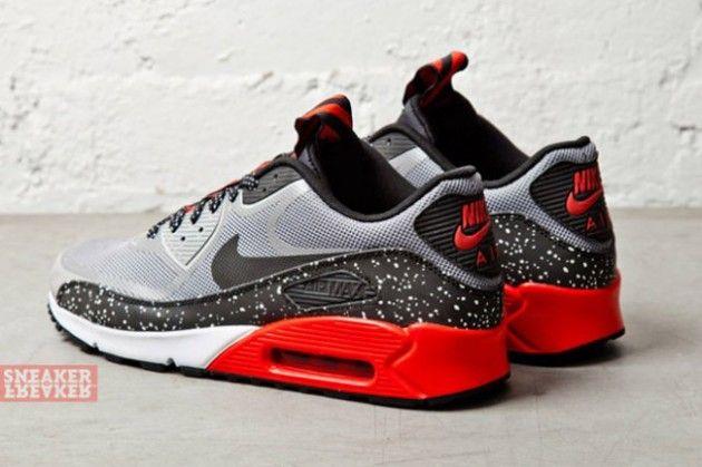 Footwear  Nike Air Max 90 CMFT PRM Tape  Medium Grey  Challenge Red