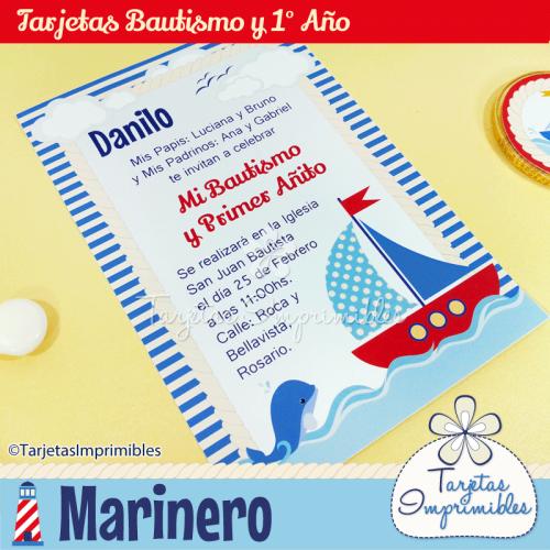 Tarjetas Para Imprimir Con Barcos Marinero Cumpleaños