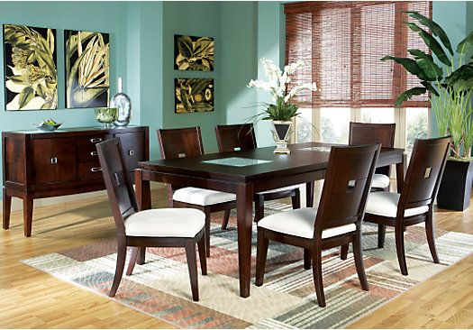 Picture Of Spiga Mocha 5 Pc Rectangle Dining Room From Dining Room Sets  Furniture
