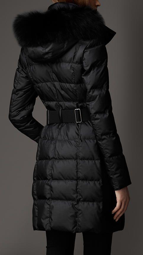 Fur Trim Puffer Coat | Burberry | Burberry coat, Coat