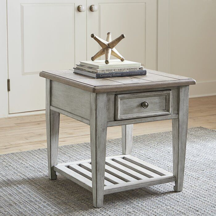 Gracie Oaks Goshen End Table With Storage Wayfair Liberty Furniture End Tables With Storage End Tables With Drawers