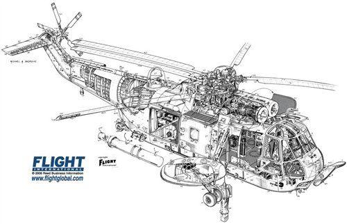 WestlandSeaKingMk43 Aircraft Line Drawings