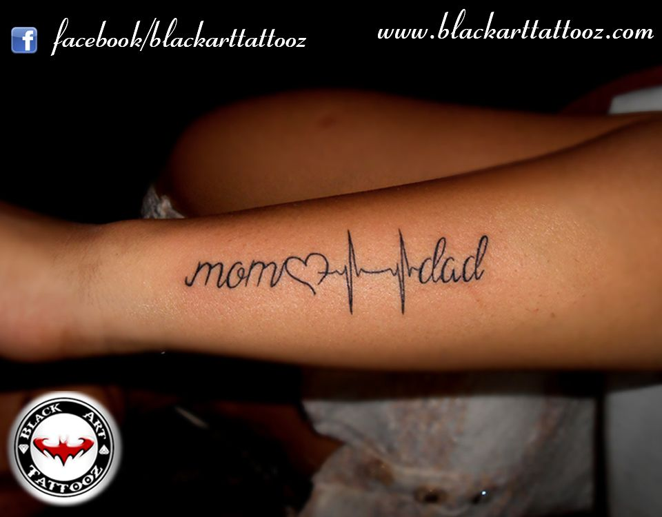 Mom Dad Heartbeat Tattoo: Pin By Anna Marie Sanchez On Pics