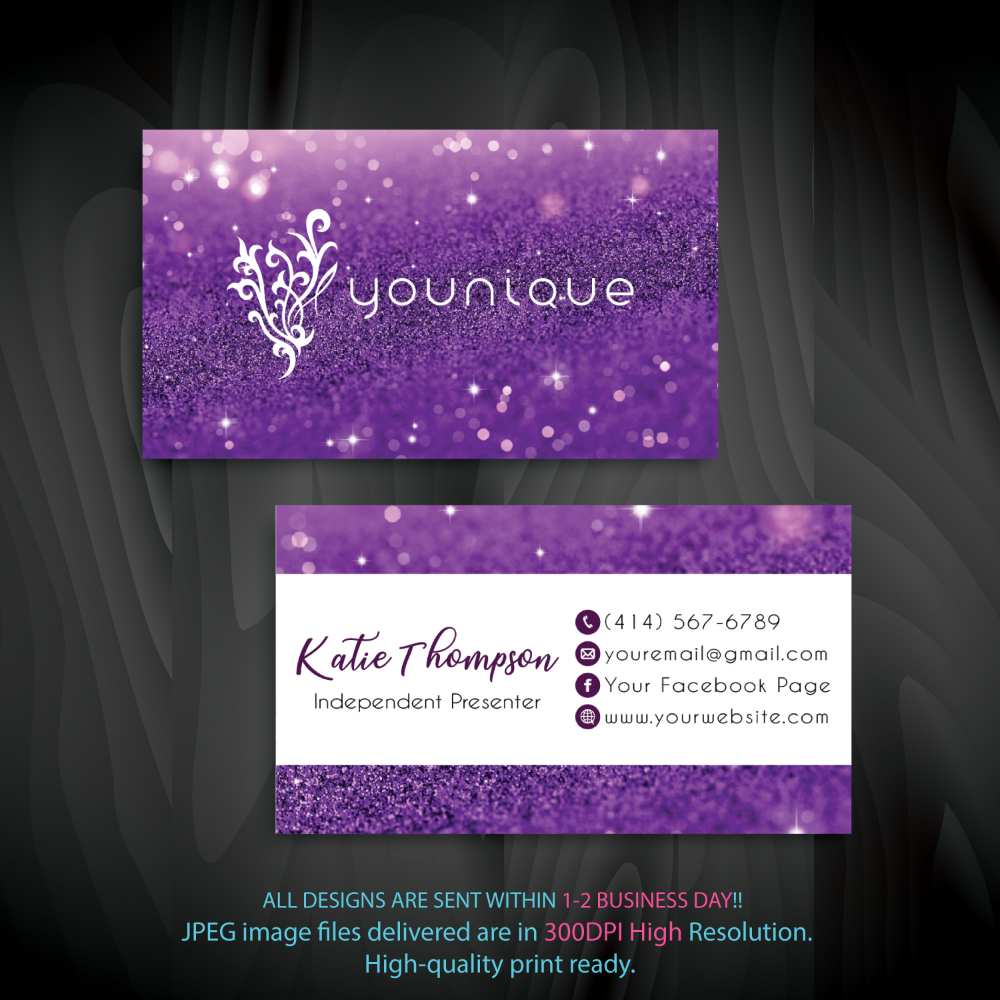 Younique Business Cards Glitteryounique Business Cards Younique Card Yq02 Younique Business Cards Younique Business Custom Business Cards