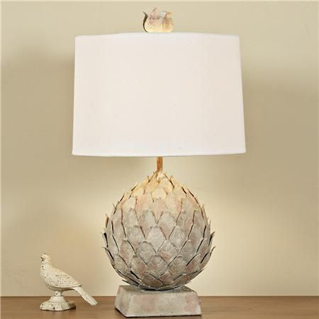 Vintage Artichoke Table Lamp, Shades Of Light , $175}