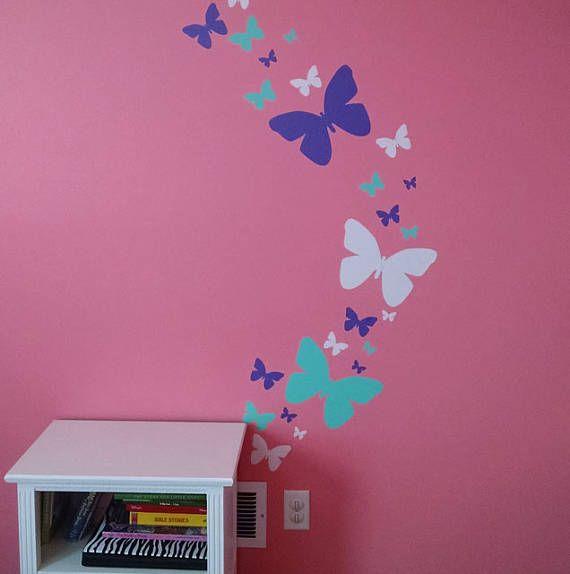 Chicas tatuajes tatuajes de pared de la mariposa de la pared ...
